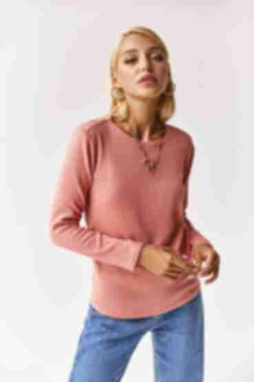 Женский трикотажный свитер ангора персиковый