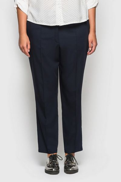 Классические брюки со стрелками темно-синие