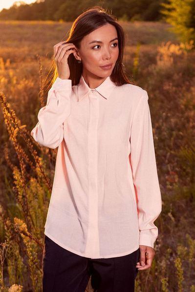 Женская блузка прямая пудровая