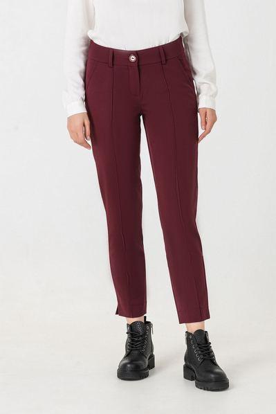 Классические брюки марсала со стрелкой