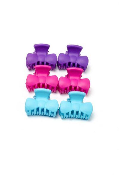 Набор маленьких разноцветных крабиков для волос