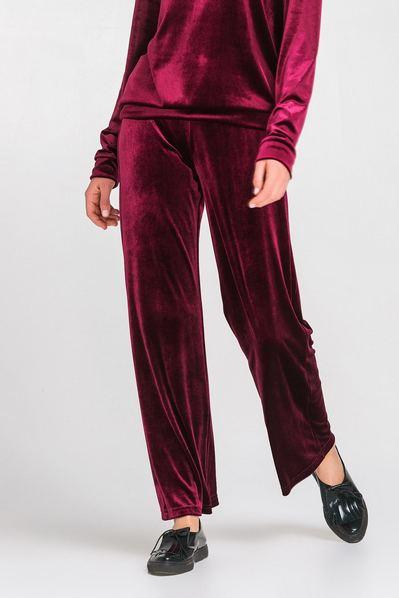 Спортивные брюки велюр ягодные