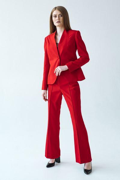 Женский красный костюм тройка
