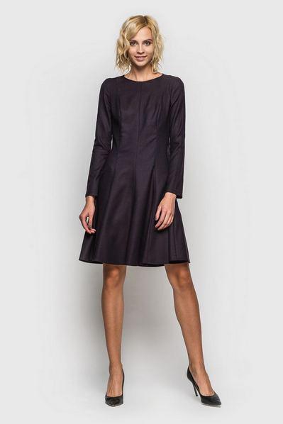 Бордовое платье клеш