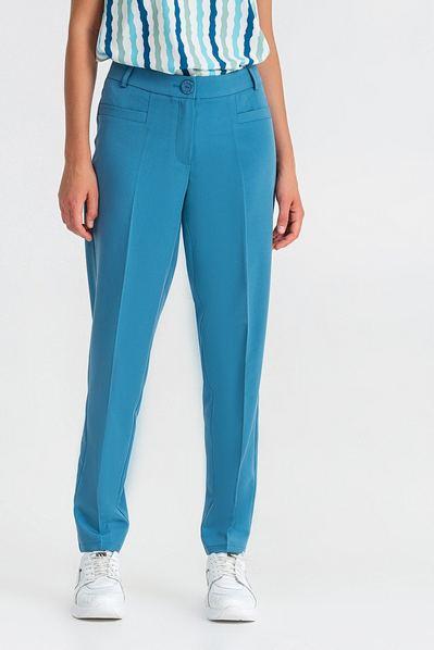 Зауженные брюки серо-голубые