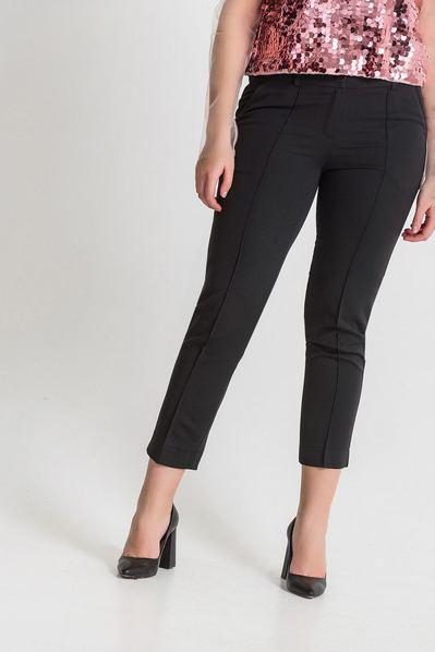 Черные брюки классические со стрелками большой размер