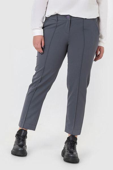 Классические брюки со стрелкой графитовые большой размер
