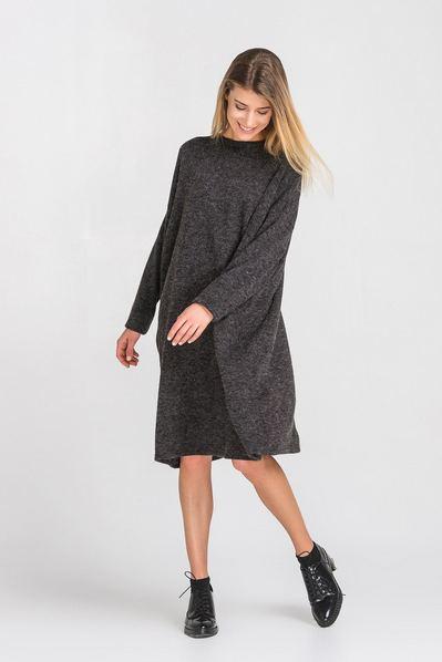 50f5b8864ba Купить серое платье трикотажное в интернет магазине VOVK
