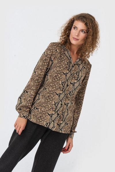 Женская блузка змеиный принт штапельная