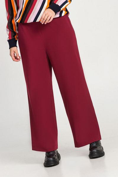 Женские брюки клеш ягодные большой размер