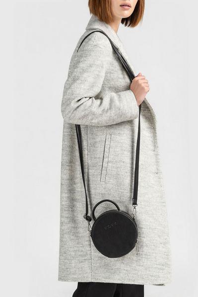 Черная сумка круглая объемная