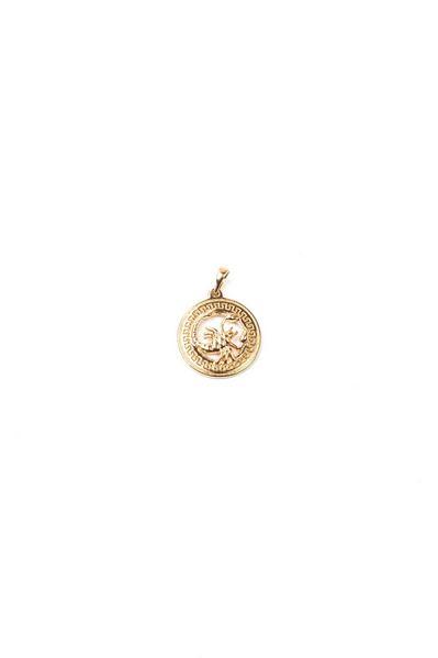 Кулон со знаком зодиака Скорпион золотистый