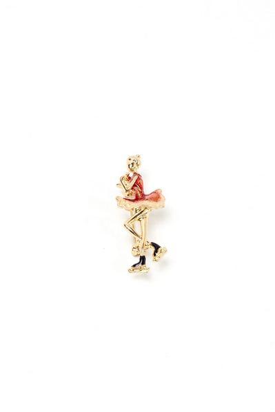 Брошь гимнастка в красном платье