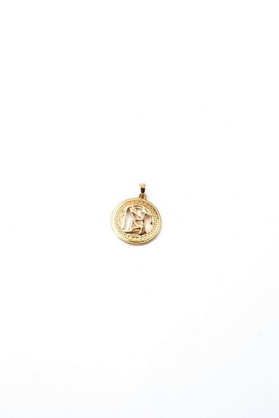 Кулон со знаком зодиака Водолей золотистый