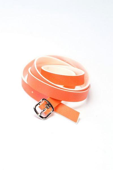Тонкий пояс оранжевый