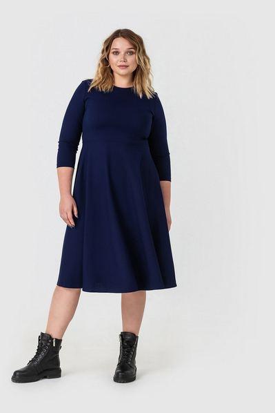 Платье синее полусолнце