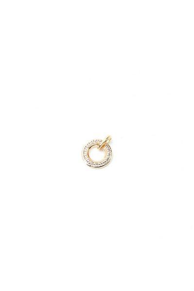 Кулон-кольцо греческий орнамент золотистый