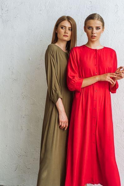 Красное платье кимоно