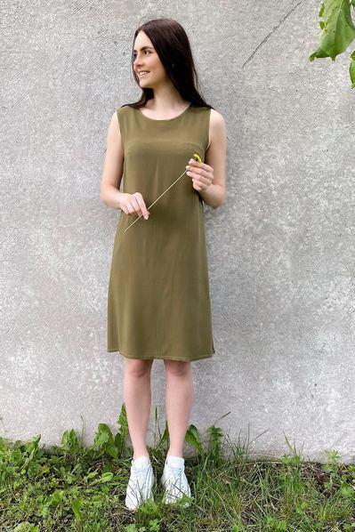 Платье майка цвета хаки