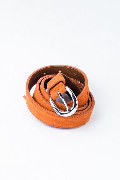 Ремень из замши оранжевый