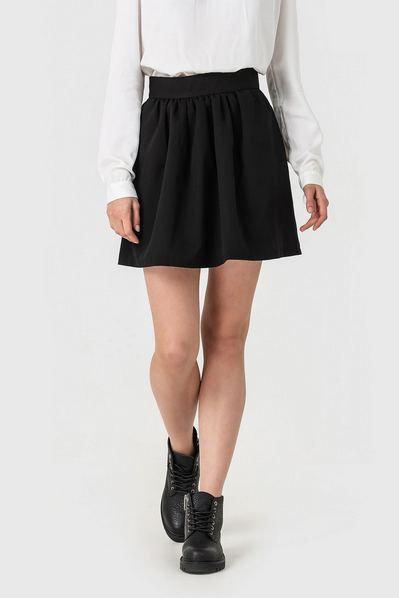 Черная мини-юбка куколка