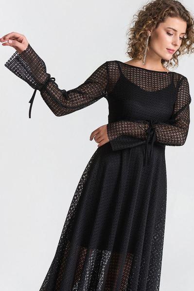 1f9a6d73071 Купить длинное платье из гипюра в интернет магазине VOVK