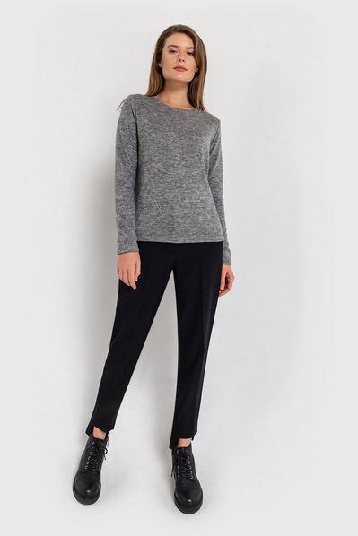 Женский свитер из ангоры графитовый