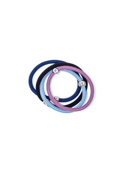 Набор разноцветных плетеных резинок в ассортименте