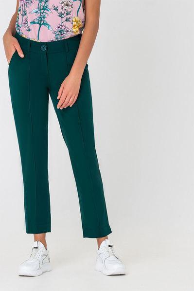 Женские брюки классические со стрелкой изумрудные