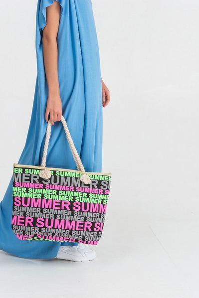 Пляжная сумка с принтом Summer