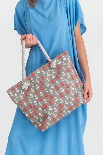Пляжная сумка маленький якорь
