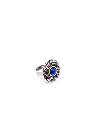 Кольцо Оранта с лазуритовой вставкой