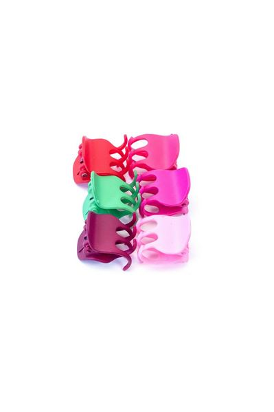 Набор разноцветных крабиков для волос
