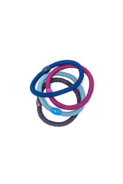 Набор разноцветных полосатых резинок в ассортименте