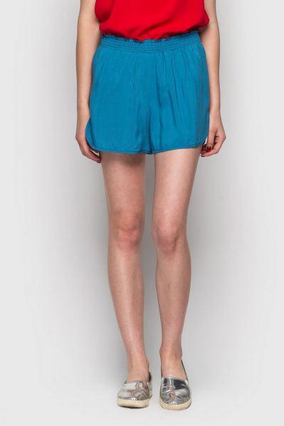 Штапельные шорты цвета ниагара