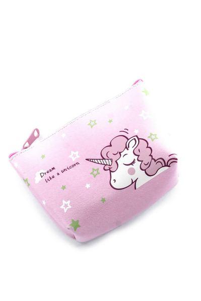 Розовый кошелек с единорогом