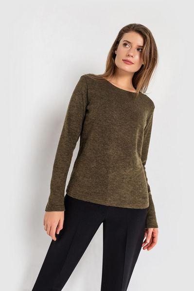 Женский свитер из ангоры хаки