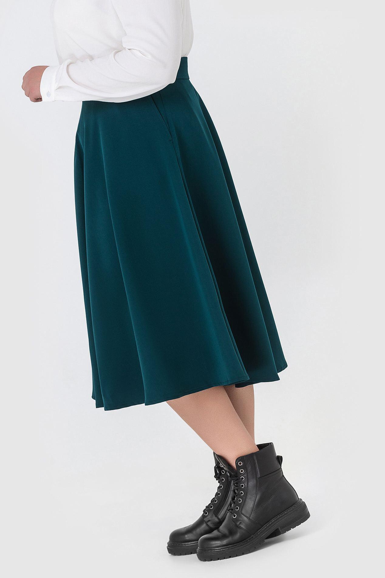 купить синюю ткань на юбку
