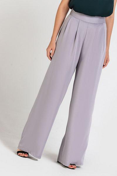 Женские брюки с защипами графитовые