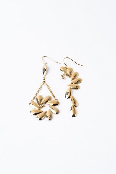 Серьги цветки золотистые