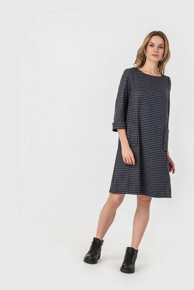 А-подобное платье гусиная лапка на графитовом