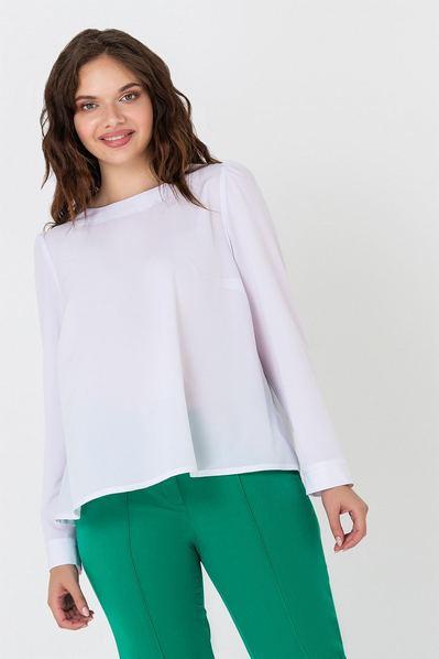 Белая блузка с завязкой на спине большой размер