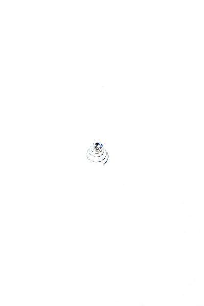 Спиральная заколка для волос со стразом