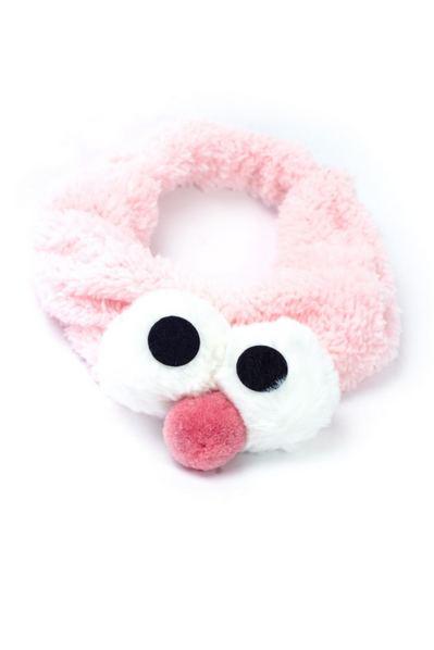 Розовая плюшевая повязка с мультяшными глазами в ассортименте
