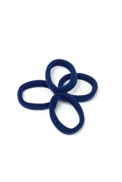 Набор темно-синих резинок для волос