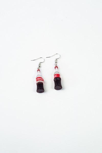 Серьги Coca-Cola