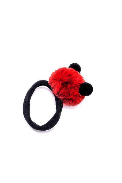 Резинка для волос с меховыми шариками в ассортименте