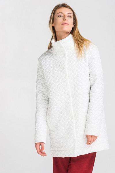 Белая куртка-пальто