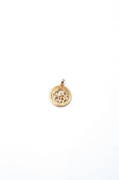 Кулон со знаком зодиака Близнецы золотистый
