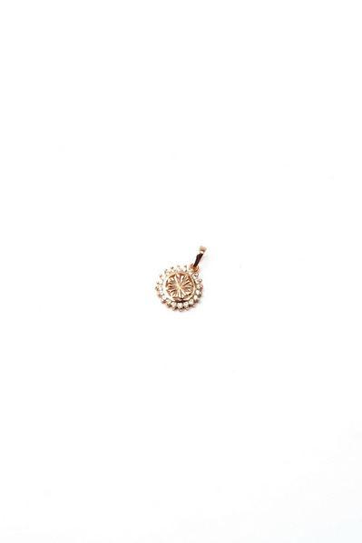 Кулон золотистая звезда с белым цирконием